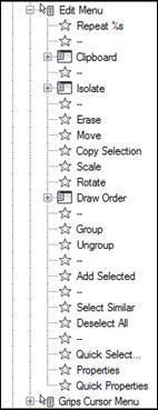 Edit Shortcut Menu