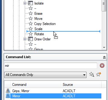 Adding Mirror command