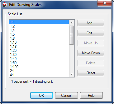 Edit Drawing Scales