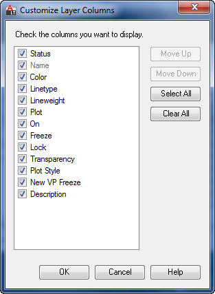 Customize Layer Properties Manager