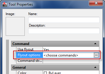 Choose flyout commands