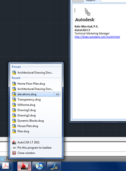 Dragging file from jump list into e-mail