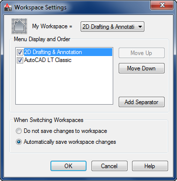 Workspace Settings