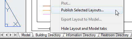 Publish Selected Layouts