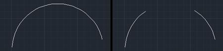 Broken arc before & after